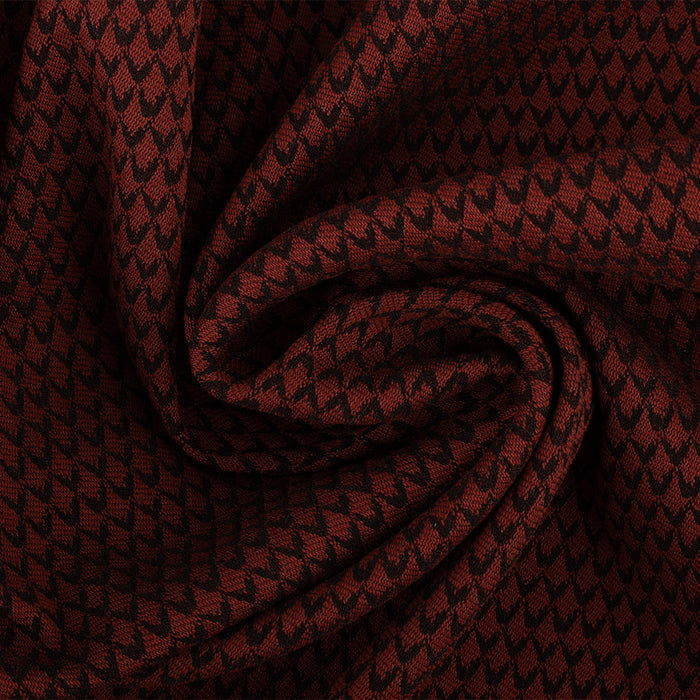 Fashion Jacquard - Zigzag - Red