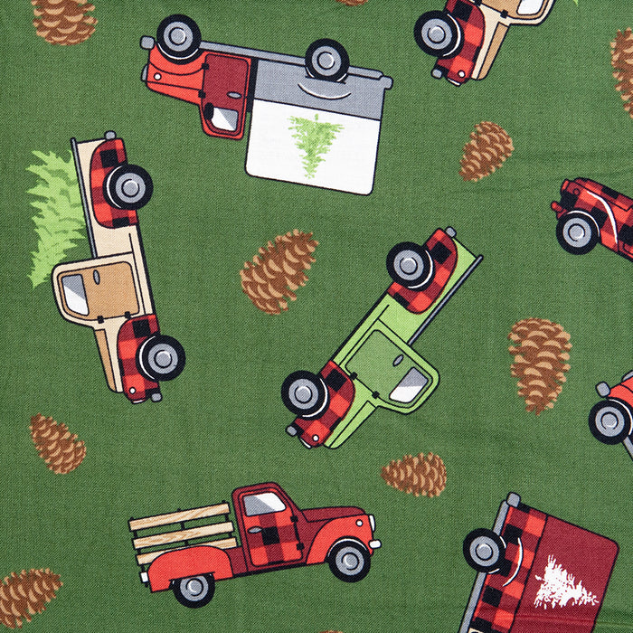 Christmas at the Cabin - Trucks - Green