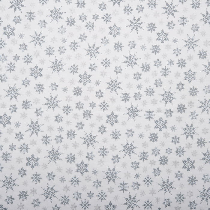 HOLLY VILLAGE  Printed cotton - Snowflake - Silver