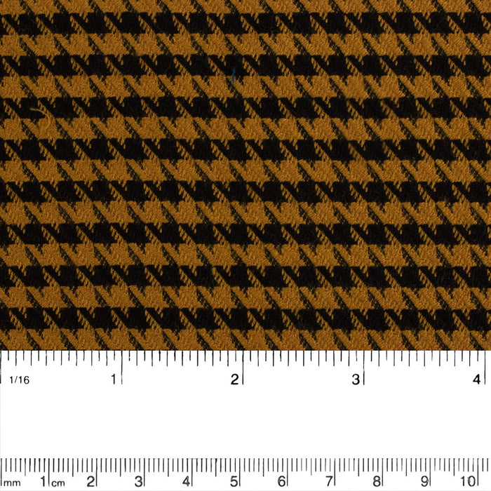 Stretch Yarn Dyed Suiting - Houndstooth - Brown