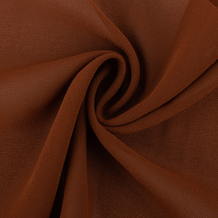 LYDIA Crepe Chiffon Solid - Brown