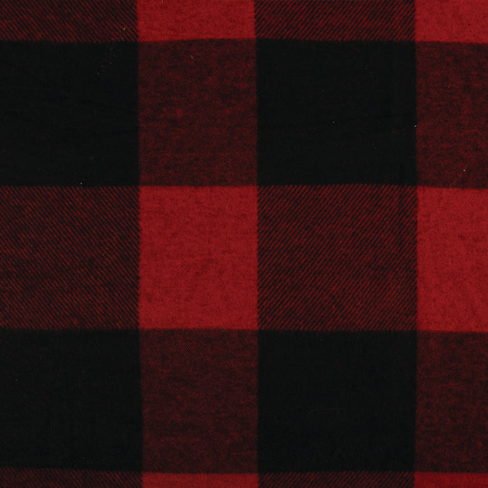 Buffalo Check Brushed Knit - SIMPLY RED collection - Red