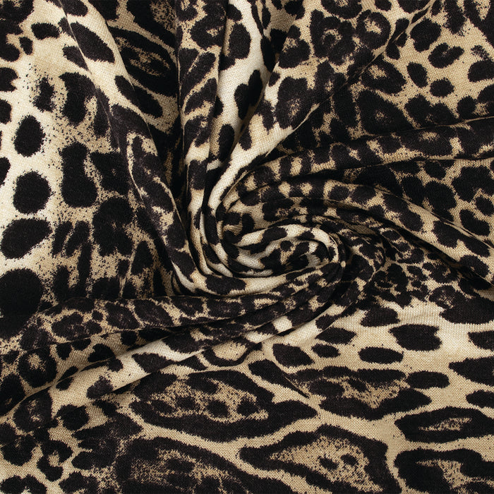 ANIMAL SKIN Printed Knit - Leopard - Beige