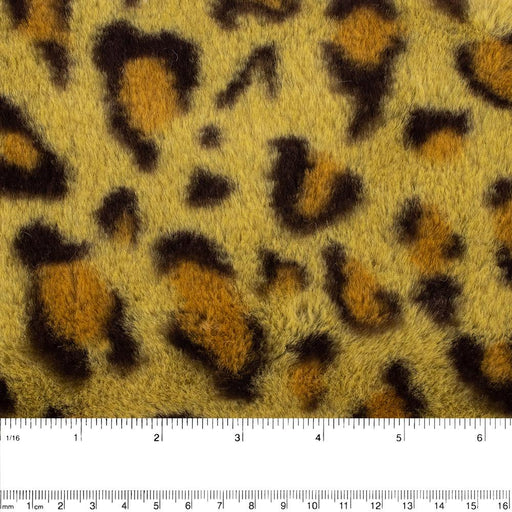 Printed Fur - Leopard - Green