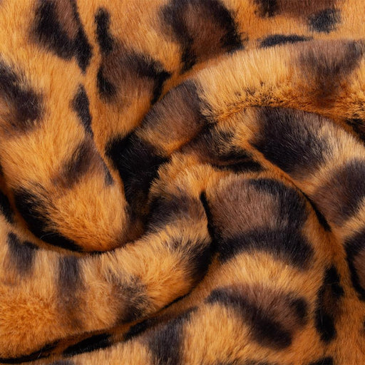 Printed Fur - Leopard - Orange