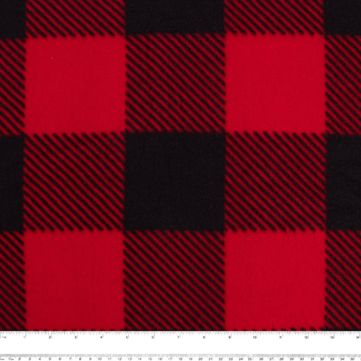 BUFFALO CHECK Anti Pill Fleece - Red