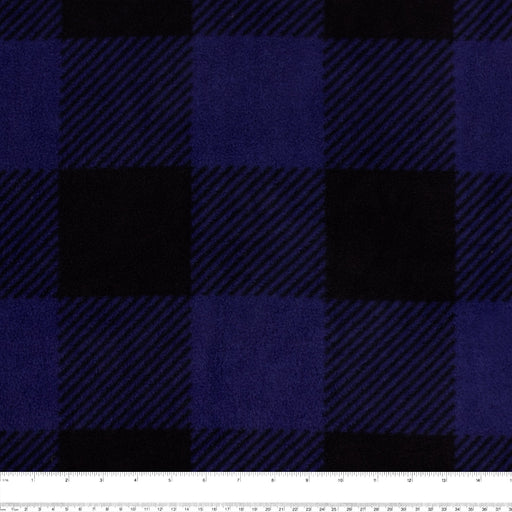 BUFFALO CHECK Anti Pill Fleece - Blue