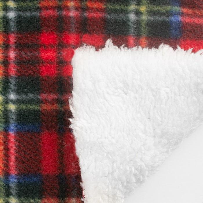 PLAID Bonded to Chenille - Royal Stewart - Red / Blue