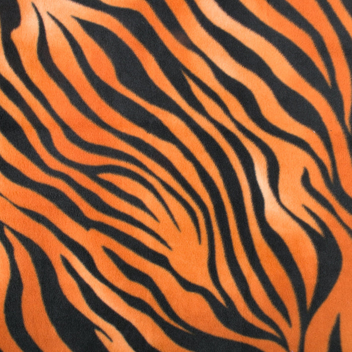 ICICLE Anti Pill Fleece Print - Zebra - Orange