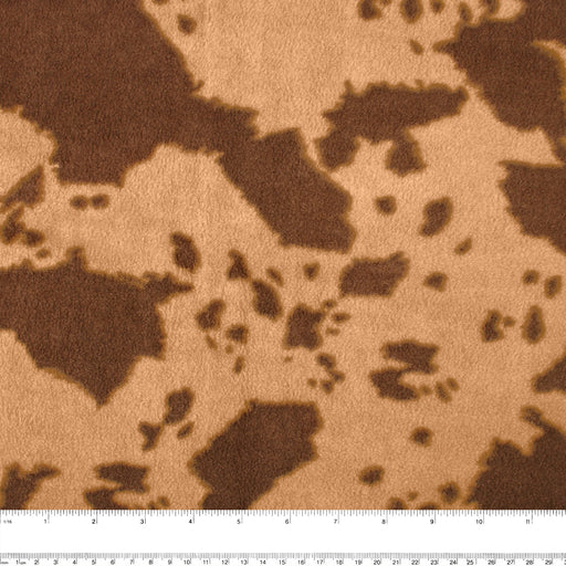 ICICLE Anti Pill Fleece Print - Cows - Brown