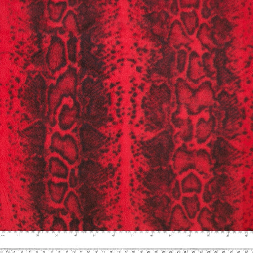 ICICLE Anti Pill Fleece Print - Snake - Red