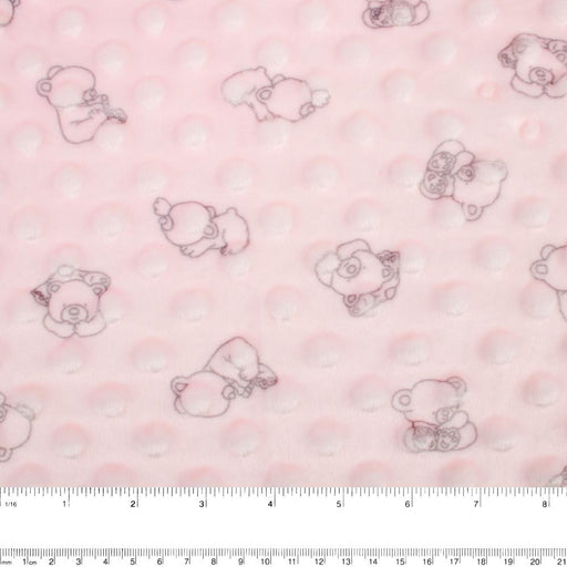 Chenille Novelty - Teddy bear - Pink