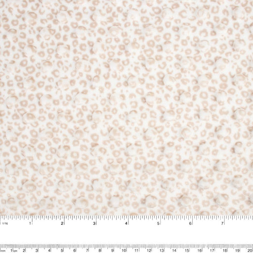 Chenille Novelty - Leopard - Beige
