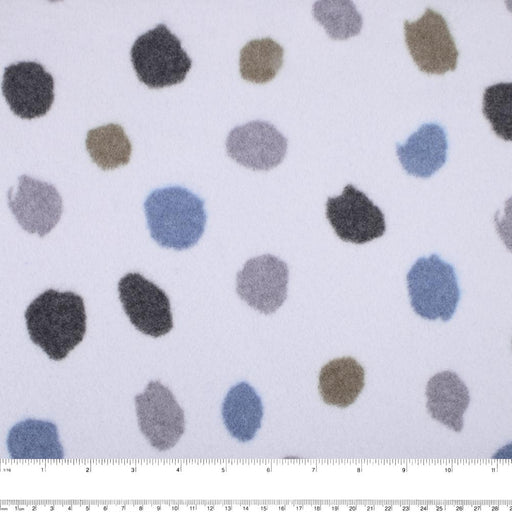 Cotton Fleece Print - Dots - Lilac