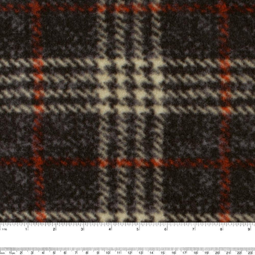 FROSTY Anti Pill Fleece Print - Plaids - Charcoal