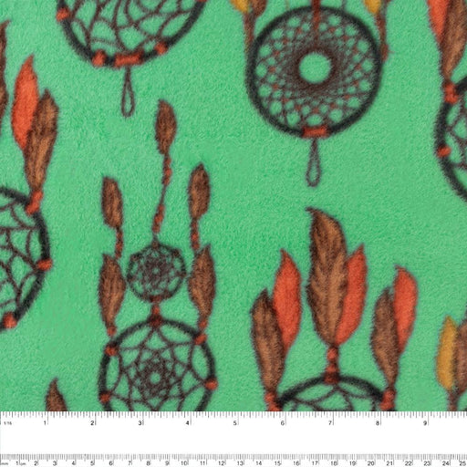 NORTHERN Fleece print - Dream Catcher - Green