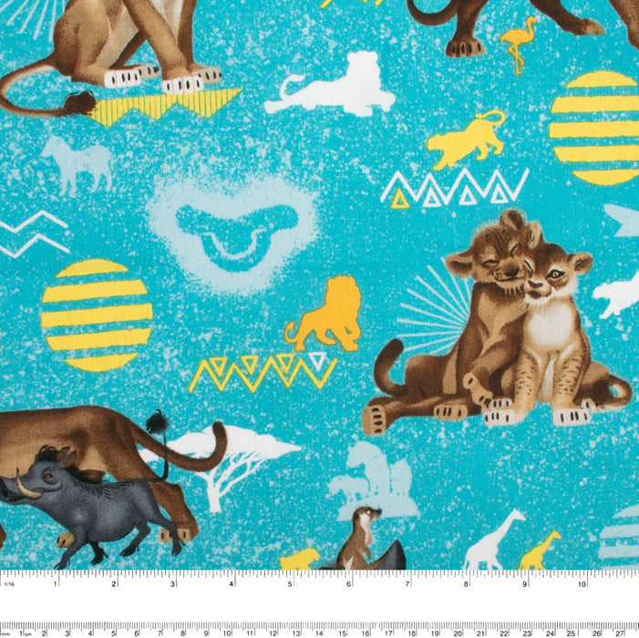 Licensed Cotton Print - Lion king - Turquoise