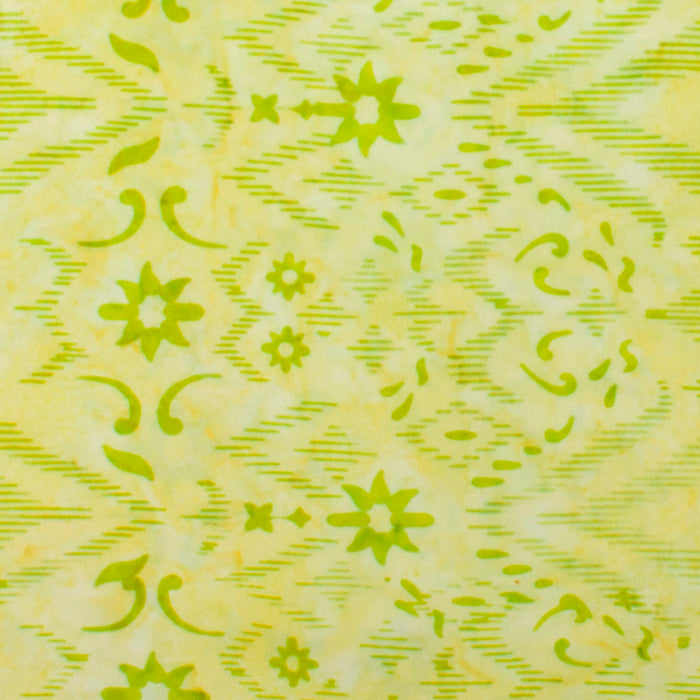 Northcott - BANYAN batik cotton print - Flakes - Lime