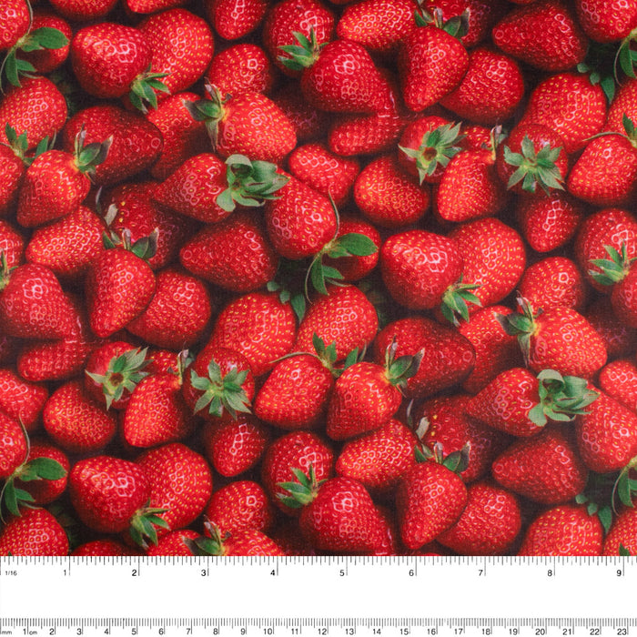 FRUIT STAND Printed Cotton - Strawberries