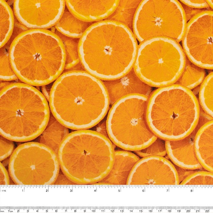 FRUIT STAND Printed Cotton - Oranges