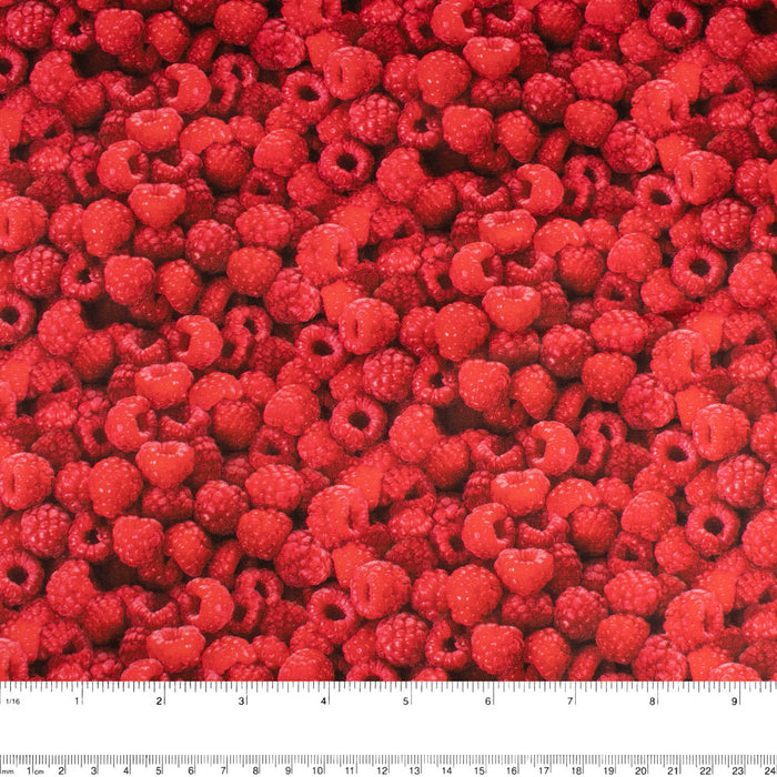 FRUIT STAND Printed Cotton - Raspberries