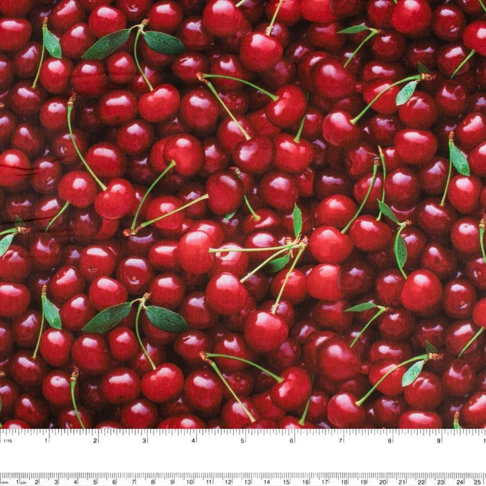 FRUIT STAND Printed Cotton - Cherries