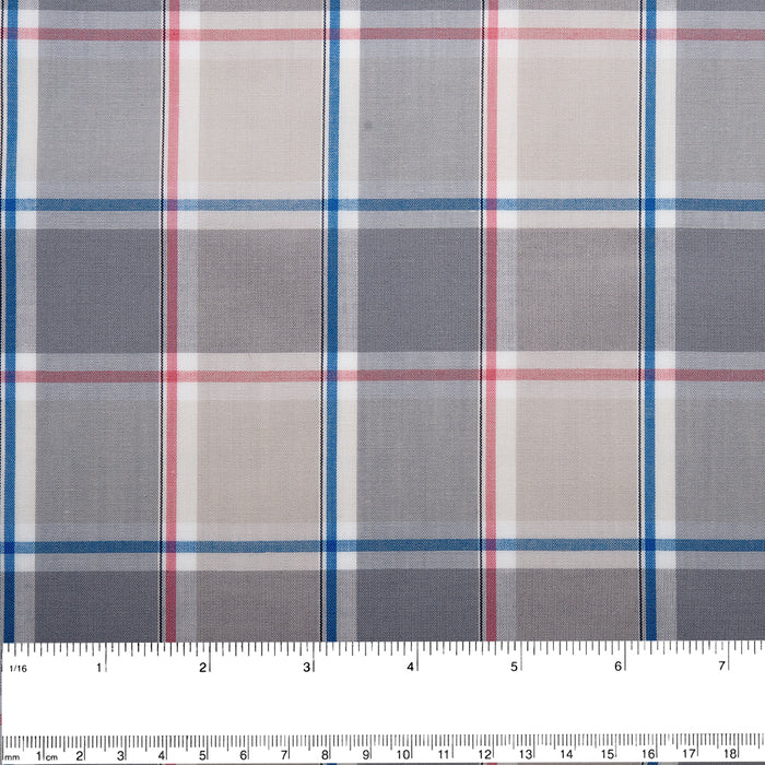 TRADITION Polyester cotton plaid - Pink / Blue