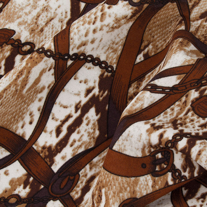 Scuba Crepe - Chain - Brown
