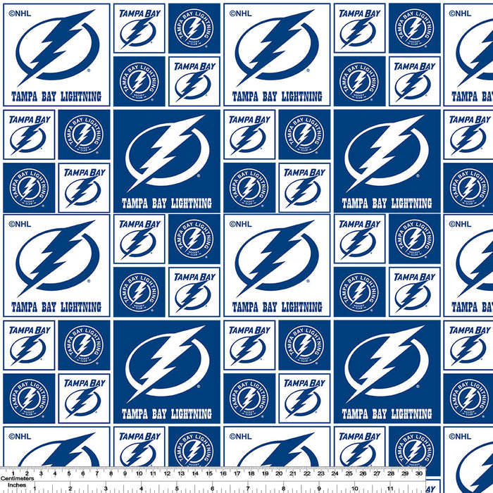 Tampa Bay Lightning - NHL Cotton Print - Patchwork