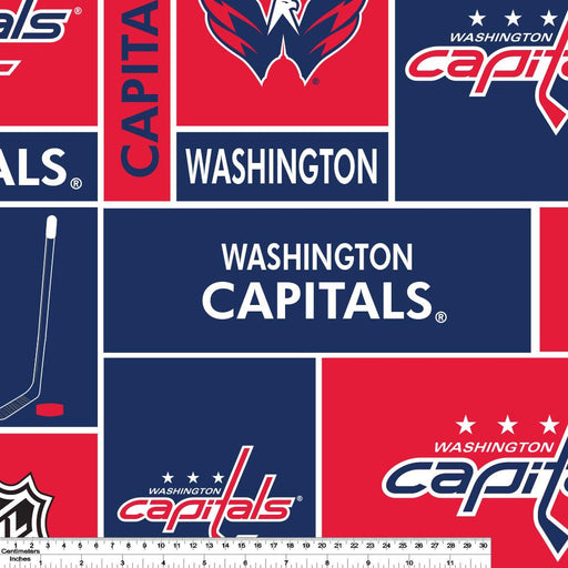 Washington Capitals - NHL Fleece Print - Patchwork