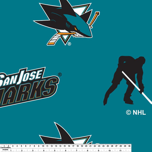 San Jose Sharks - NHL Fleece Print - Logo