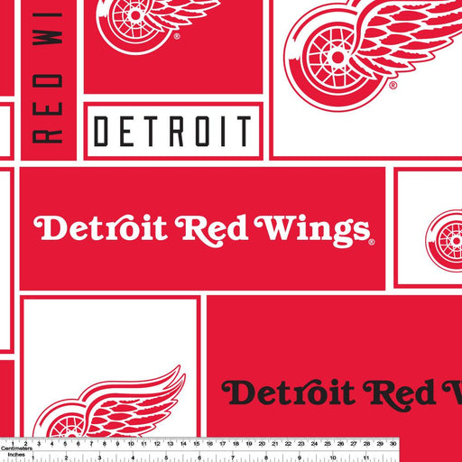 Detroit Red Wings - NHL Fleece Print - Patchwork