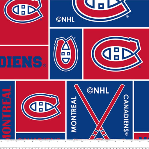 Montreal Canadiens - NHL Fleece Print - Squares