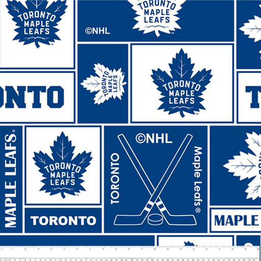 Toronto Maple Leafs - NHL Fleece Print - Squares