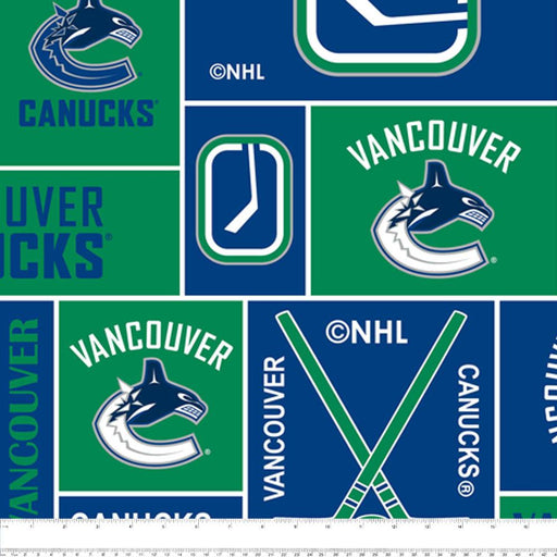 Vancouver Canucks - NHL Fleece Print - Squares