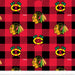 Chicago Blackhawks - NHL Fleece Print - Plaid