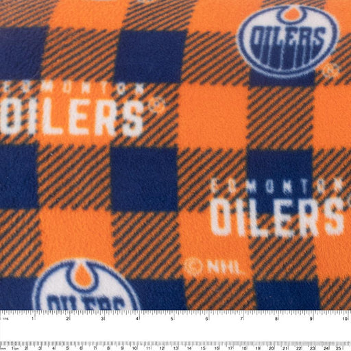 Edmonton Oilers - NHL Fleece Print - Plaid