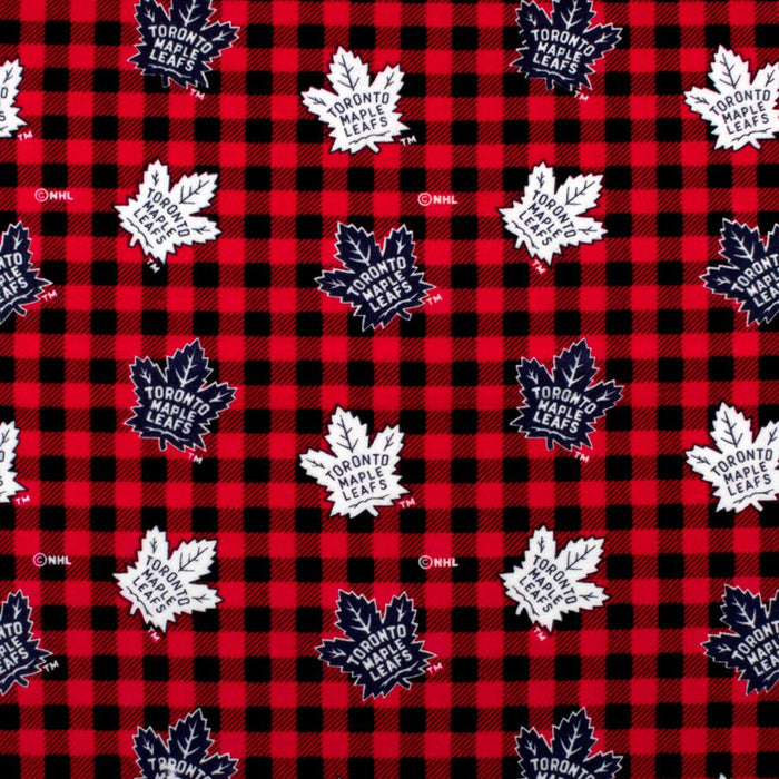 Toronto Maple Leafs - NHL Flannelette Print - Plaids - Red
