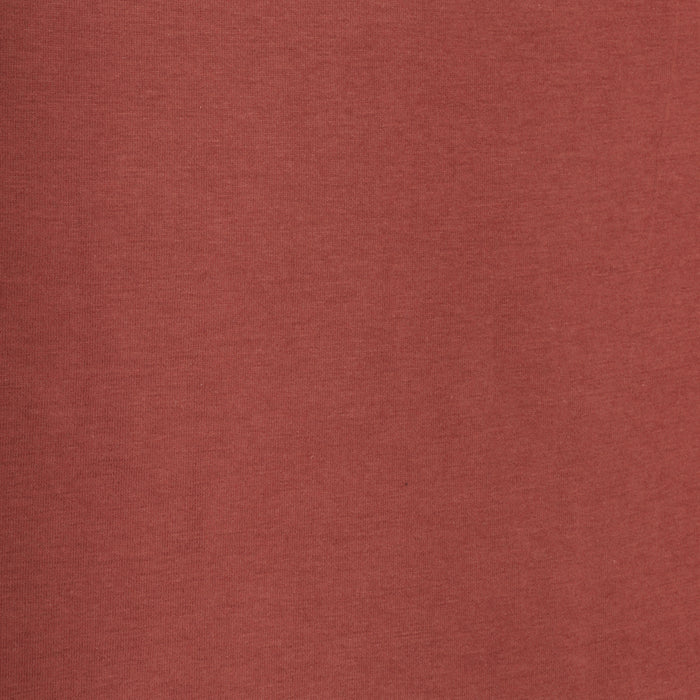 ORGANIC Cotton Lycra Solid Knit - Russet
