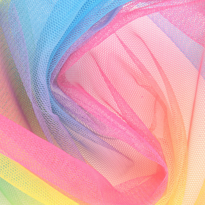 RAINBOW Shiny Tulle - Bright