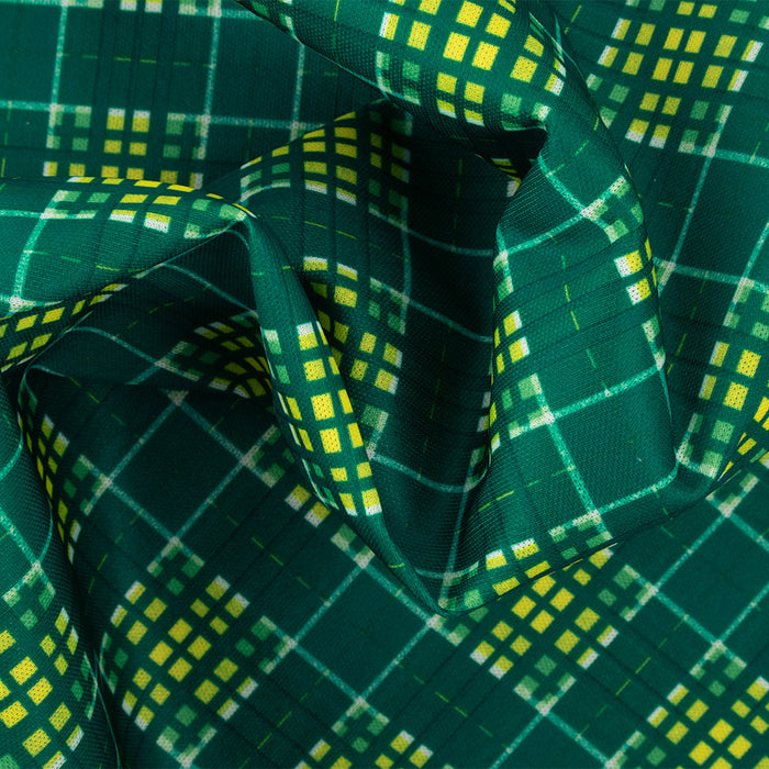 Stay dry printed PUL - Plaids - Green / Yellow