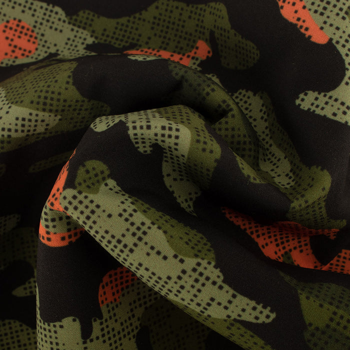 FLUORESCENT Soft Shell Print - Camouflage - Orange