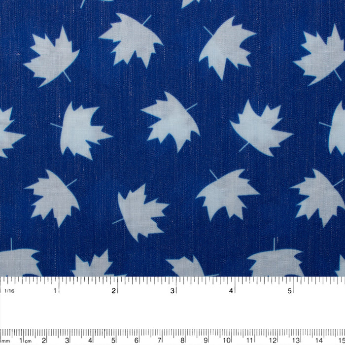 Patriotic prints - Small maple leaf - Blue