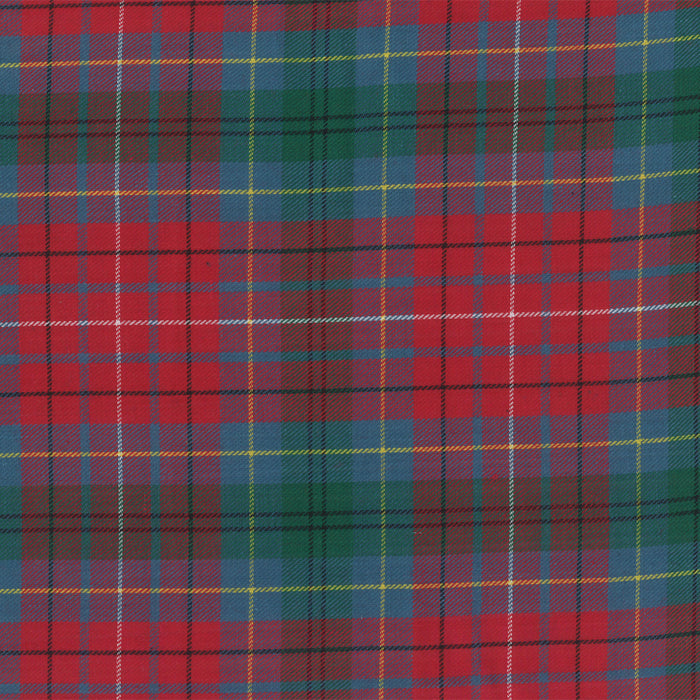 LONDON brushed plaid - British Columbia - Red / Blue