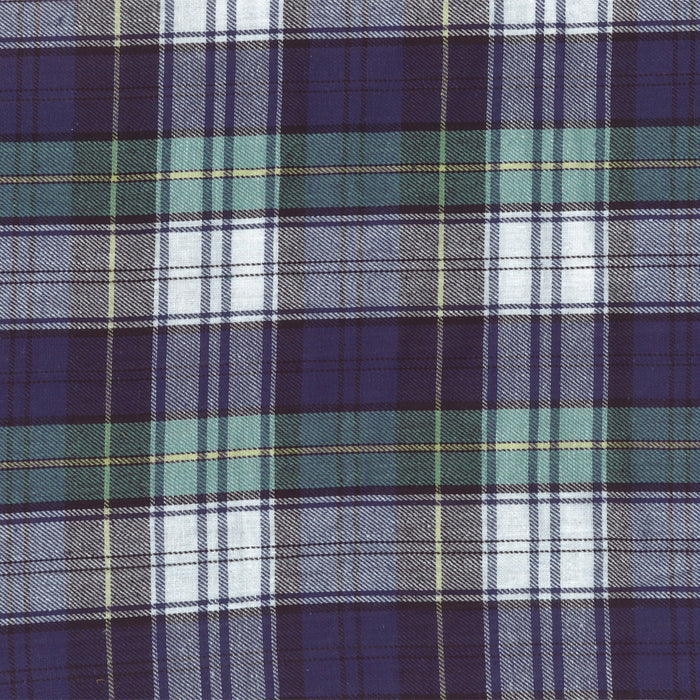 LONDON brushed plaid - Dress Campbell - Navy / White / Green