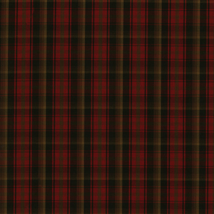 Provincial Yarn Dyed Tartan - Maple leaf - Red