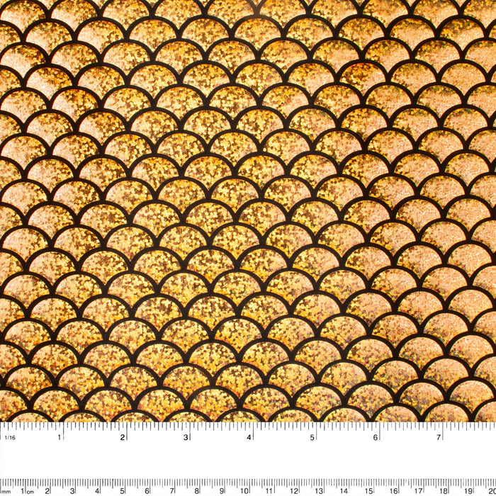 Metallic Knit - Mermaid scale - Gold