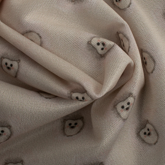 BABY HUG -  Stay dry digital printed PUL -  Hedgehogs - beige