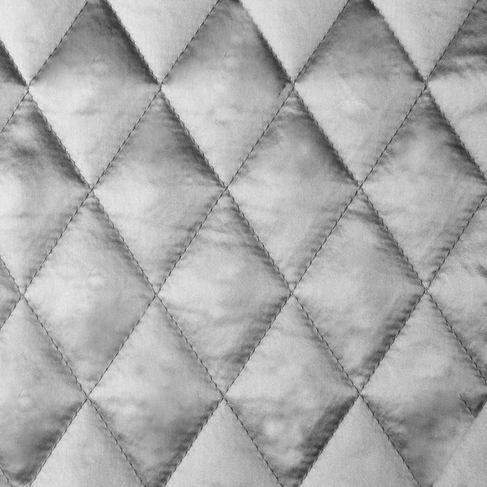 Quilted Satin Lining - Medium grey