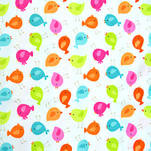 Babyville Boutique Waterproof PUL Fabric Little Birds 165cm (64 inches)Wide